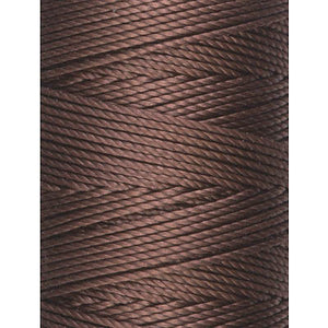 C-LON Bead Cord, Brown - 0.5mm, 92 Yard Spool - Barrel of Beads