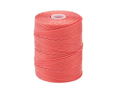 C-LON Bead Cord, Chinese Coral - 0.5mm, 92 Yard Spool - Barrel of Beads