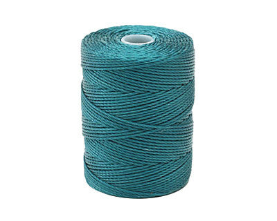 C-LON Bead Cord, Cerulean - 0.5mm, 92 Yard Spool - Barrel of Beads