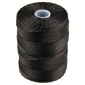 C-LON Bead Cord, Charcoal - 0.5mm, 92 Yard Spool - Barrel of Beads