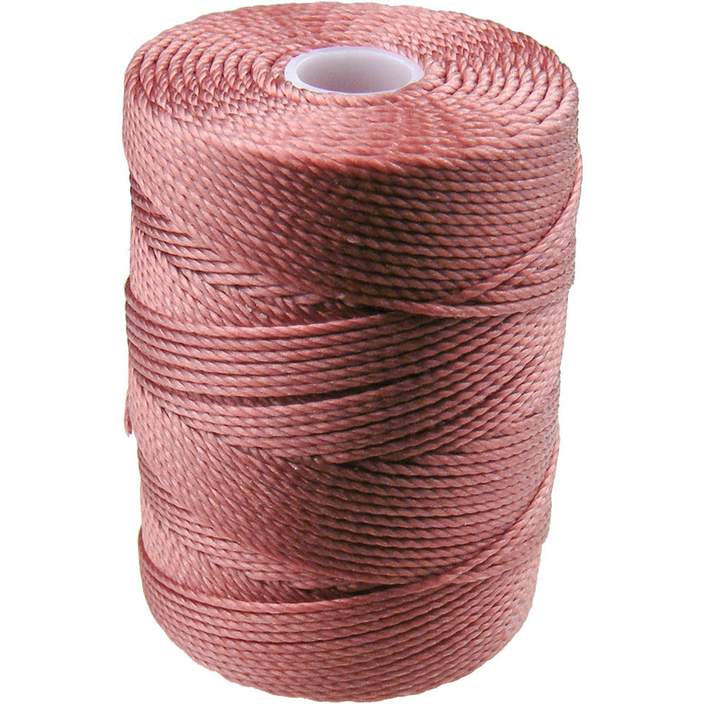C-LON Bead Cord, Copper Rose - 0.5mm, 92 Yard Spool - Barrel of Beads