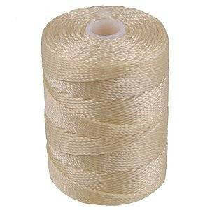 C-LON Bead Cord, Cream - 0.5mm, 92 Yard Spool - Barrel of Beads