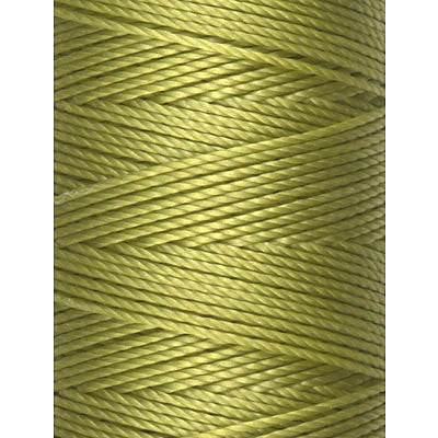 C-LON Bead Cord, Chartreuse - 0.5mm, 92 Yard Spool - Barrel of Beads