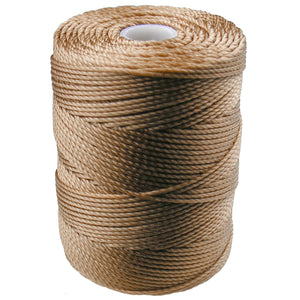 C-LON Bead Cord, Dk Tan - 0.5mm, 92 Yard Spool - Barrel of Beads