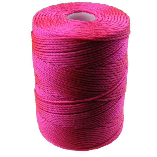 C-LON Bead Cord, Fluorescent Hot Pink - 0.5mm, 92 Yard Spool - Barrel of Beads