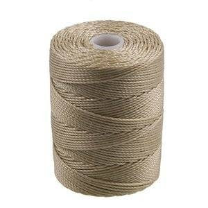 C-LON Bead Cord, Flax - 0.5mm, 92 Yard Spool - Barrel of Beads