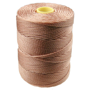 C-LON Bead Cord, Ginger - 0.5mm, 92 Yard Spool - Barrel of Beads
