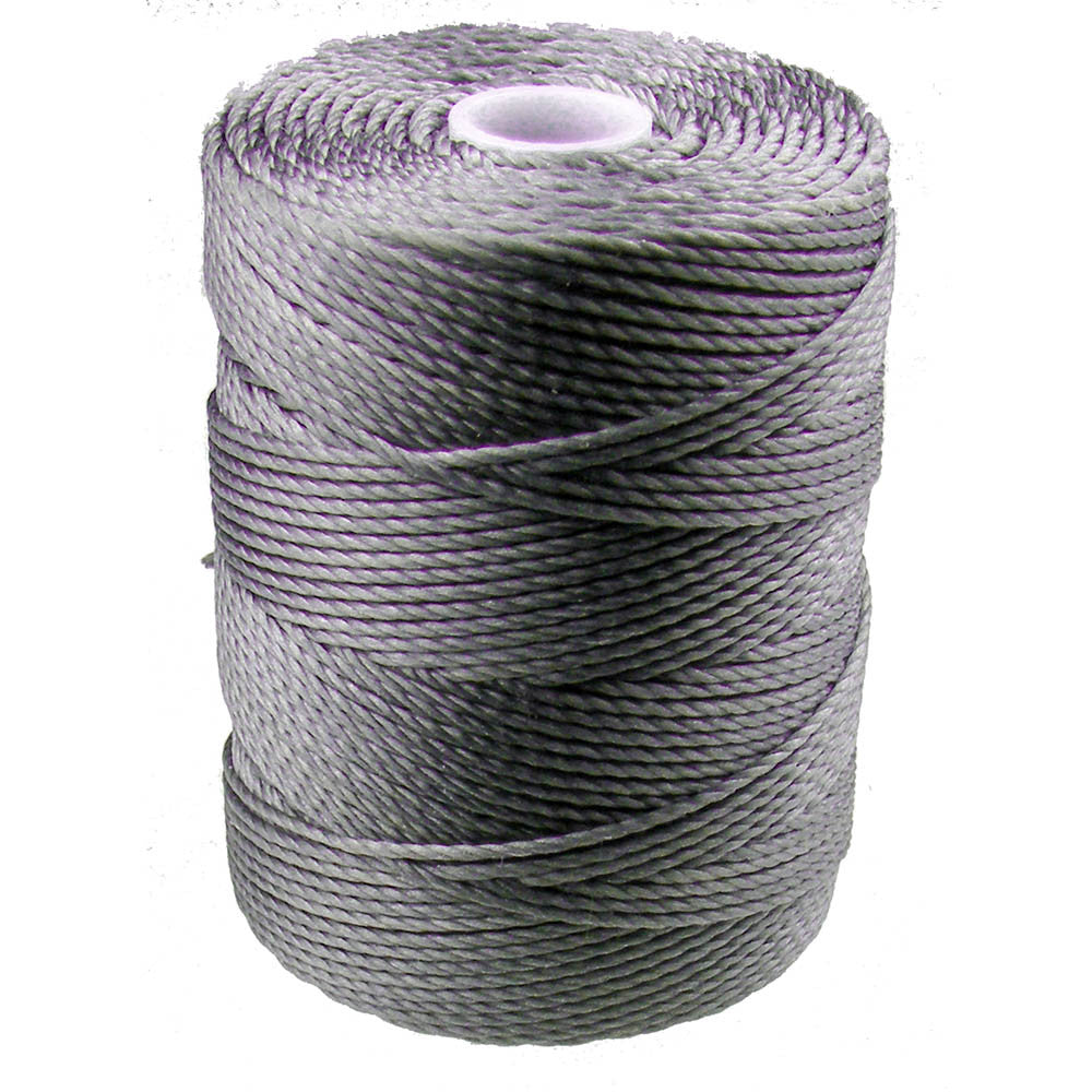 C-LON Bead Cord, Gunmetal - 0.5mm, 92 Yard Spool - Barrel of Beads