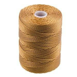 C-LON Bead Cord, Gold - 0.5mm, 92 Yard Spool - Barrel of Beads
