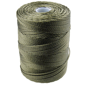 C-LON Bead Cord, Green Olive - 0.5mm, 92 Yard Spool - Barrel of Beads