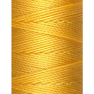 C-LON Bead Cord, Golden Yellow - 0.5mm, 92 Yard Spool - Barrel of Beads