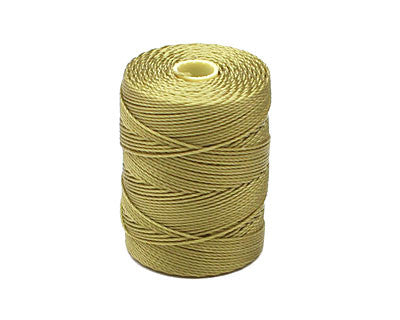 C-LON Bead Cord, Lemongrass - 0.5mm, 92 Yard Spool - Barrel of Beads