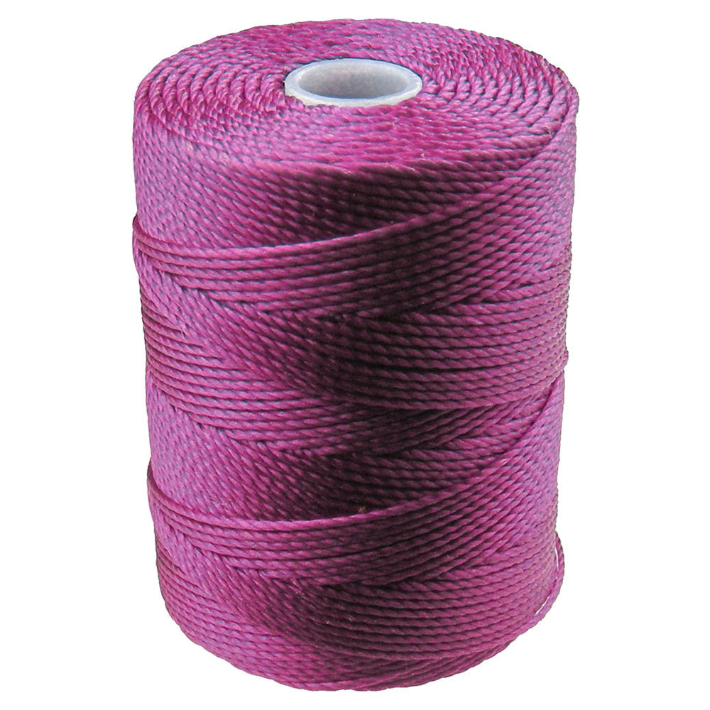 C-LON Bead Cord, Light Magenta - 0.5mm, 92 Yard Spool - Barrel of Beads