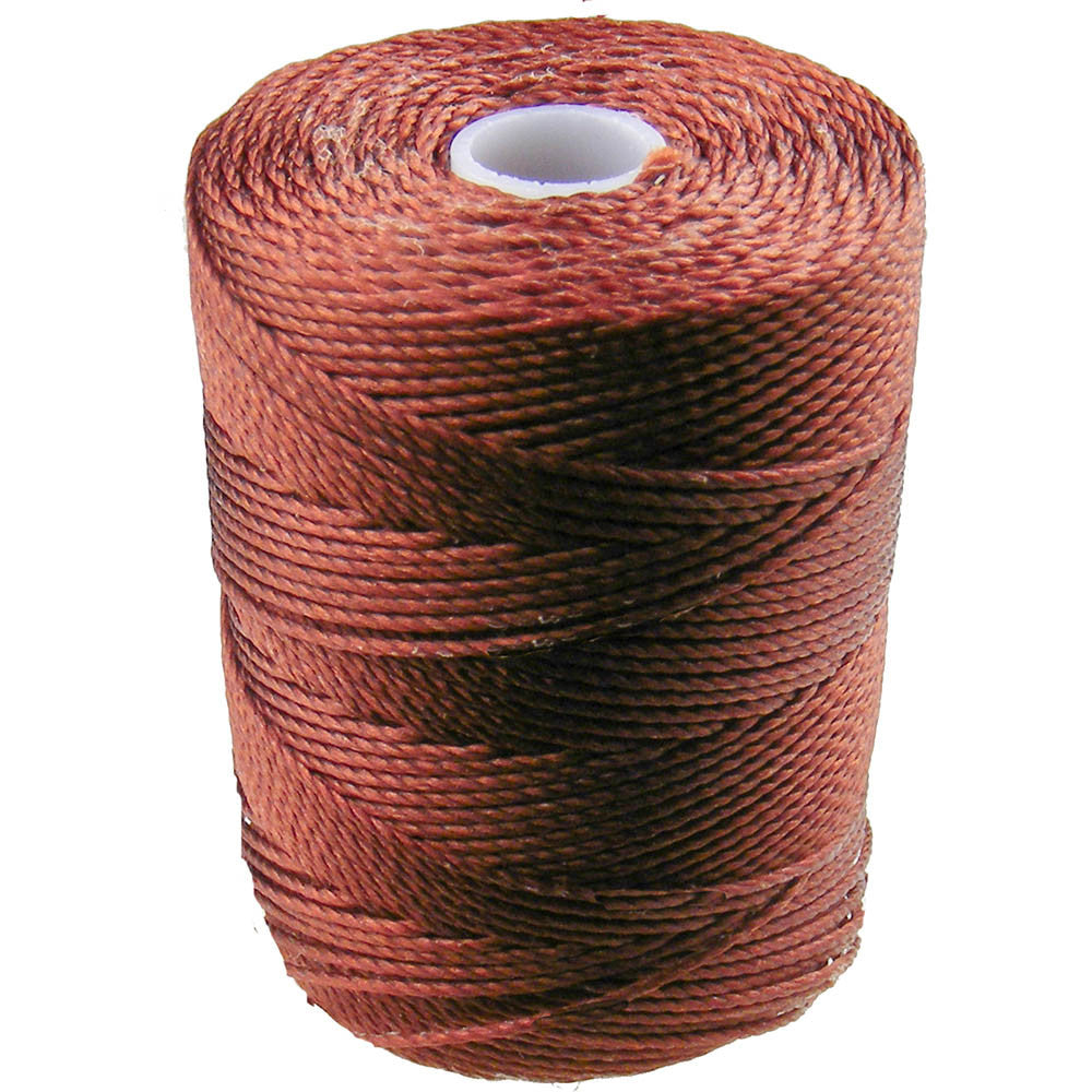 C-LON Bead Cord, Mahogany - 0.5mm, 92 Yard Spool - Barrel of Beads