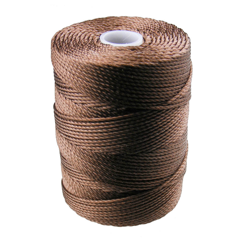 C-LON Bead Cord, Medium Brown - 0.5mm, 92 Yard Spool - Barrel of Beads