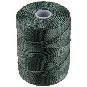 C-LON Bead Cord, Myrtle Green - 0.5mm, 92 Yard Spool - Barrel of Beads