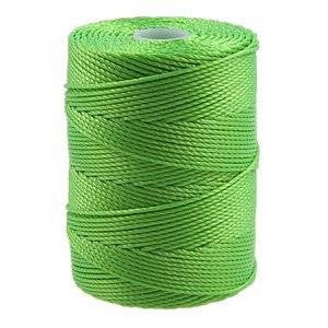 C-LON Bead Cord, Neon Green - 0.5mm, 92 Yard Spool - Barrel of Beads