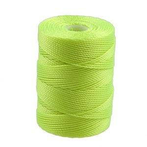 C-LON Bead Cord, Neon Yellow - 0.5mm, 92 Yard Spool - Barrel of Beads
