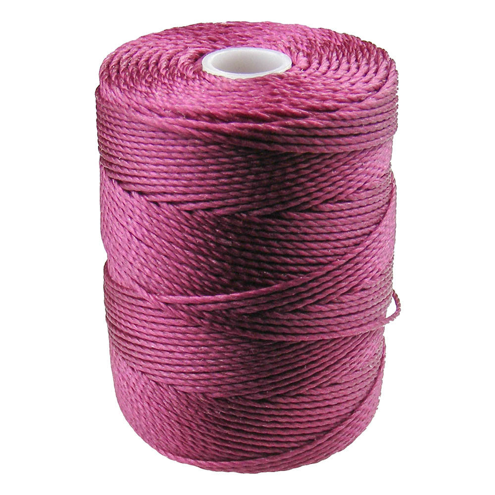 C-LON Bead Cord, Raspberry - 0.5mm, 92 Yard Spool - Barrel of Beads