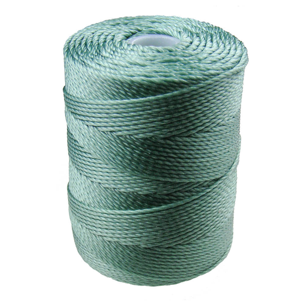 C-LON Bead Cord, Sage - 0.5mm, 92 Yard Spool - Barrel of Beads