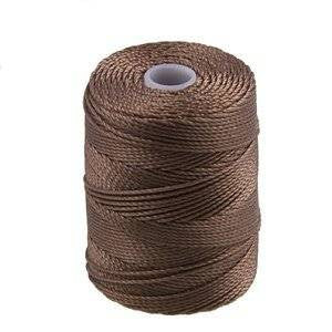 C-LON Bead Cord, Sable - 0.5mm, 92 Yard Spool - Barrel of Beads