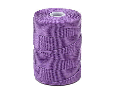 C-Lon Fine Weight Bead Cord, Amethyst - 0.4mm, 136 Yard Spool - Barrel of Beads