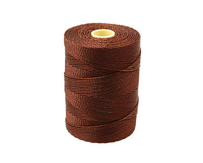 C-Lon Fine Weight Bead Cord, Brown - 0.4mm, 136 Yard Spool - Barrel of Beads