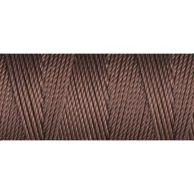 Brown nylon fine weight bead cord