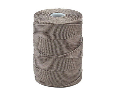 C-Lon Fine Weight Bead Cord, Cocoa - 0.4mm, 136 Yard Spool - Barrel of Beads