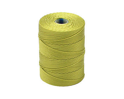 C-Lon Fine Weight Bead Cord, Chartreuse - 0.4mm, 136 Yard Spool - Barrel of Beads