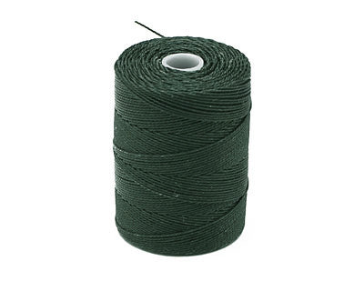 C-Lon Fine Weight Bead Cord, Forest Green - 0.4mm, 136 Yard Spool - Barrel of Beads