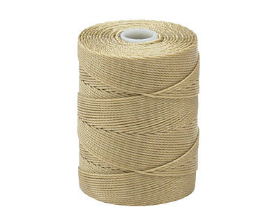 C-Lon Fine Weight Bead Cord, Flax - 0.4mm, 136 Yard Spool - Barrel of Beads