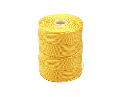 C-Lon Fine Weight Bead Cord, Golden Yellow - 0.4mm, 136 Yard Spool - Barrel of Beads