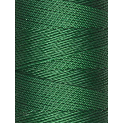 C-Lon Fine Weight Bead Cord, Green - 0.4mm, 136 Yard Spool - Barrel of Beads