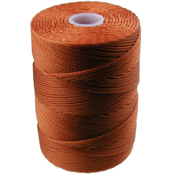 C-Lon Fine Weight Bead Cord, Light Copper - 0.4mm, 136 Yard Spool - Barrel of Beads