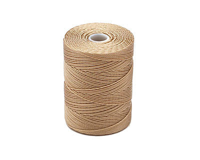 C-Lon Fine Weight Bead Cord, Latte - 0.4mm, 136 Yard Spool - Barrel of Beads