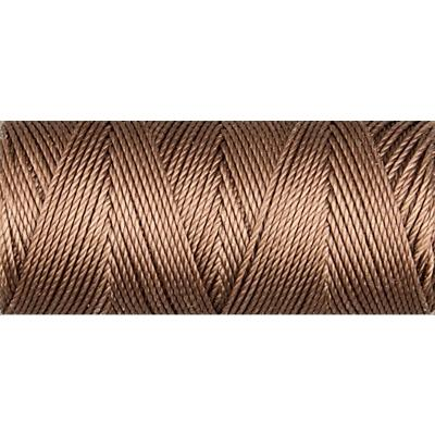 Medium Brown nylon fine weight bead cord