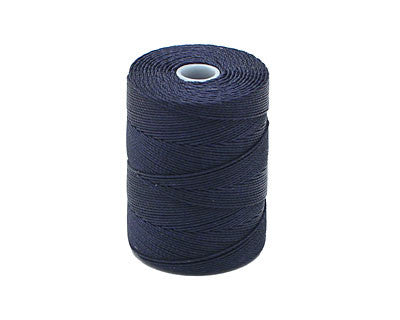 C-Lon Fine Weight Bead Cord, Navy - 0.4mm, 136 Yard Spool - Barrel of Beads