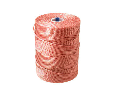 C-Lon Fine Weight Bead Cord, Rose - 0.4mm, 136 Yard Spool - Barrel of Beads