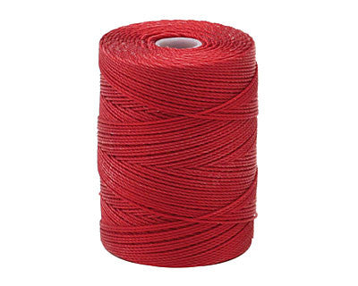 C-Lon Fine Weight Bead Cord, Red - 0.4mm, 136 Yard Spool - Barrel of Beads