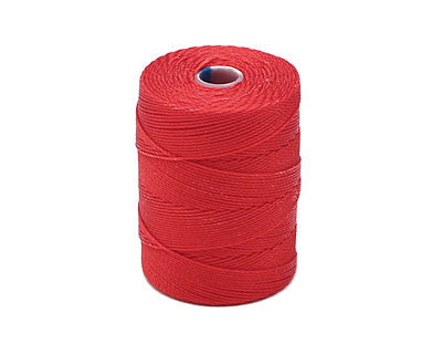 C-Lon Fine Weight Bead Cord, Shanghai Red - 0.4mm, 136 Yard Spool - Barrel of Beads