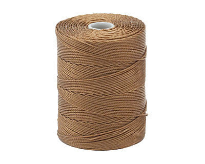 C-Lon Fine Weight Bead Cord, Sable - 0.4mm, 136 Yard Spool - Barrel of Beads