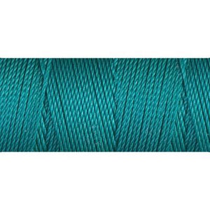 Teal nylon fine weight bead cord