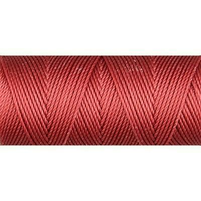 Venetian Red nylon fine weight bead cord