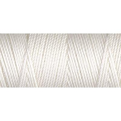 White nylon fine weight bead cord