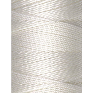 C-Lon Fine Weight Bead Cord, White - 0.4mm, 136 Yard Spool - Barrel of Beads