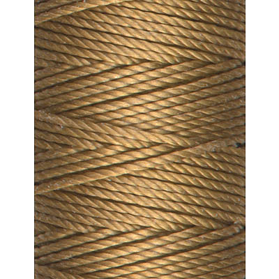 C-Lon Tex 400 Heavy Weight Bead Cord, Antique Gold - 1.0mm, 36 Yard Spool - Barrel of Beads
