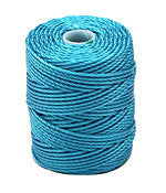 C-Lon Tex 400 Heavy Weight Bead Cord, Aqua - 1.0mm, 36 Yard Spool - Barrel of Beads