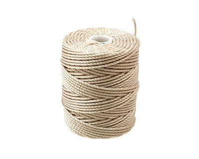 C-Lon Tex 400 Heavy Weight Bead Cord, Beige - 1.0mm, 36 Yard Spool - Barrel of Beads