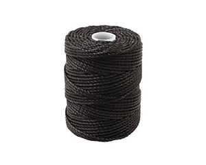 C-Lon Tex 400 Heavy Weight Bead Cord, Black - 1.0mm, 36 Yard Spool - Barrel of Beads